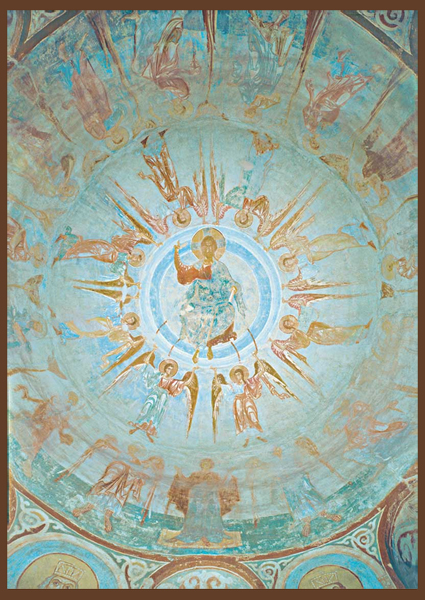 Чудо георгия о змие фреска из старая ладога